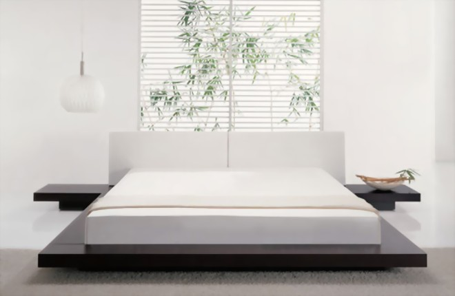 Schlafen Und Träumen -asiatische Schlafzimmer- Vollholzbetten ... Schlafzimmer Japanisch